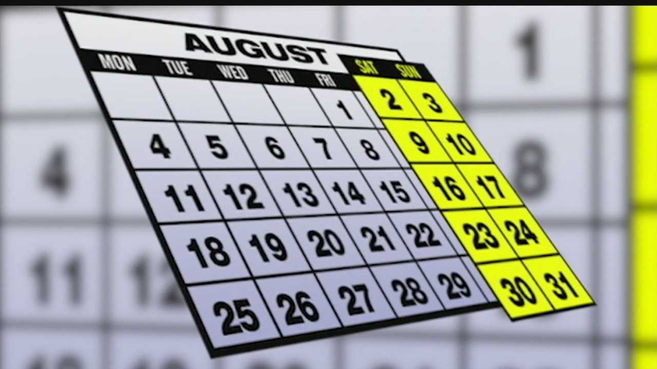 Lucky August: 5 Fridays, Saturdays and Sundays
