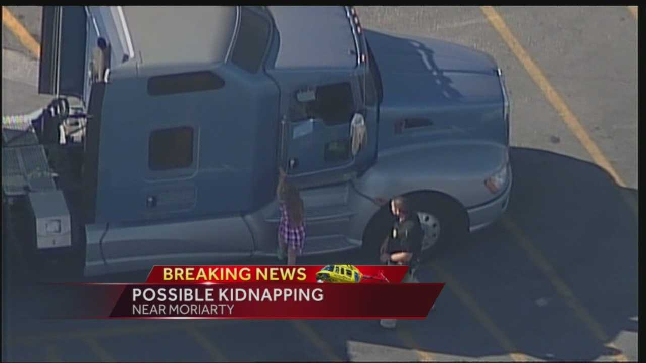Girl, 7, says she was kidnapped in semi