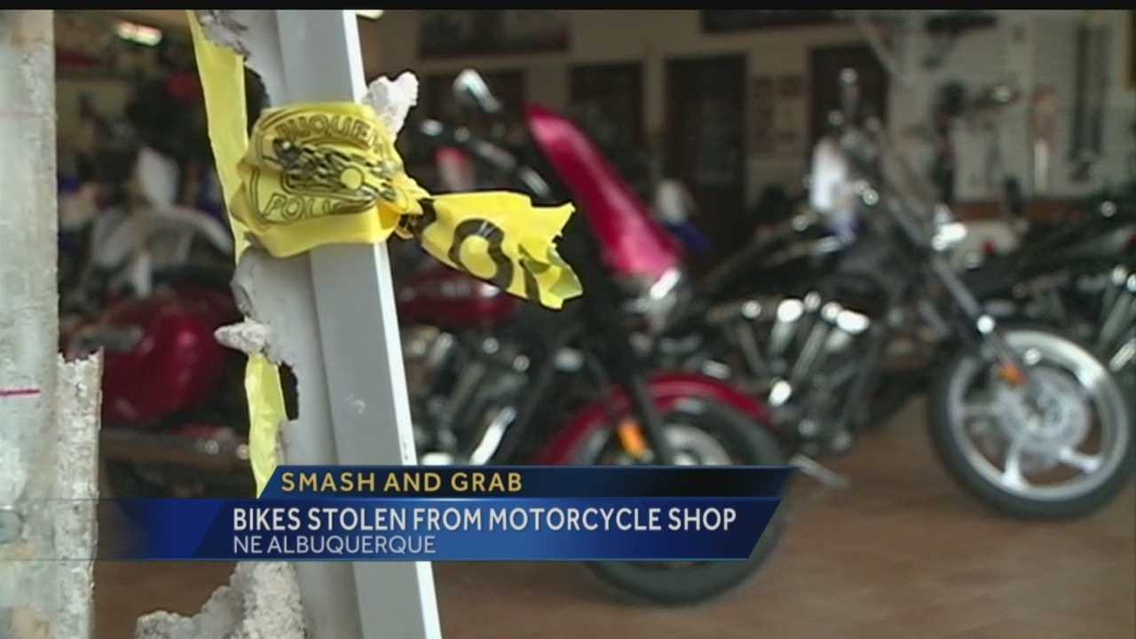 Thieves smashed through Bobby J's Yahama motorcycle shop overnight to steal three high-priced dirt bikes.