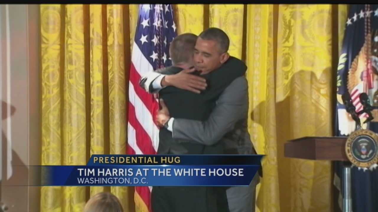 Inspirational restaurateur and Special Olympian Tim Harris paid a visit to the White House this week.