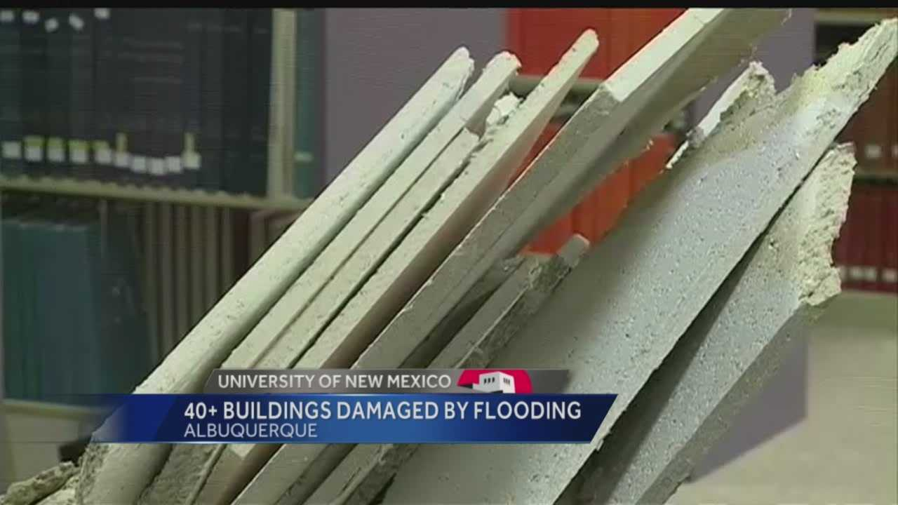 Dozens of UNM buildings damaged by flooding