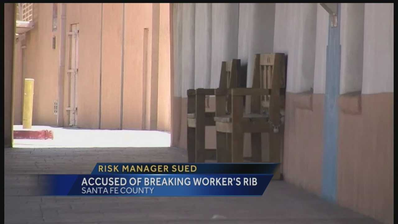 Risk manager sued, accused of breaking worker's rib