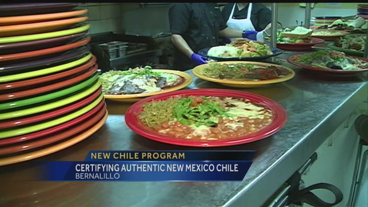 Certifying authentic New Mexico chile