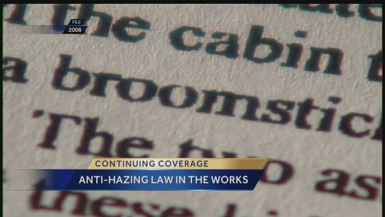 Continuing coverage: Anti-hazing law in the works