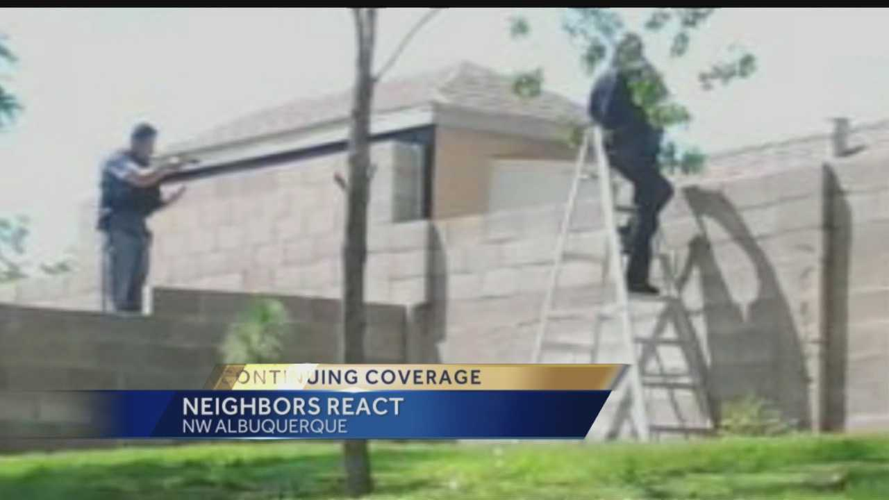Some people in the Taylor Ranch subdivision couldn't get home for hours Wednesday, and others found they couldn't step outside of their homes as police canvased the neighborhood.