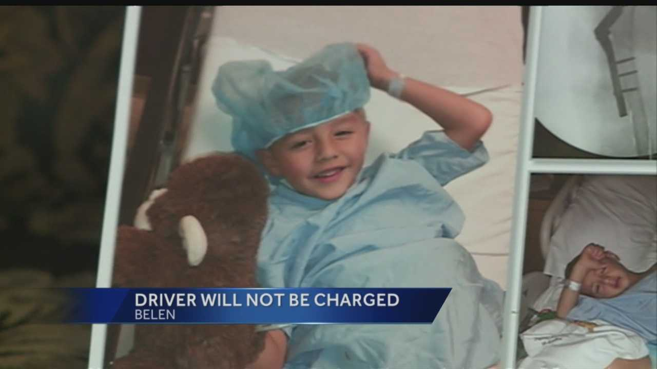The driver of a Hummer who hit a little who was playing in the river last year will not be charged.