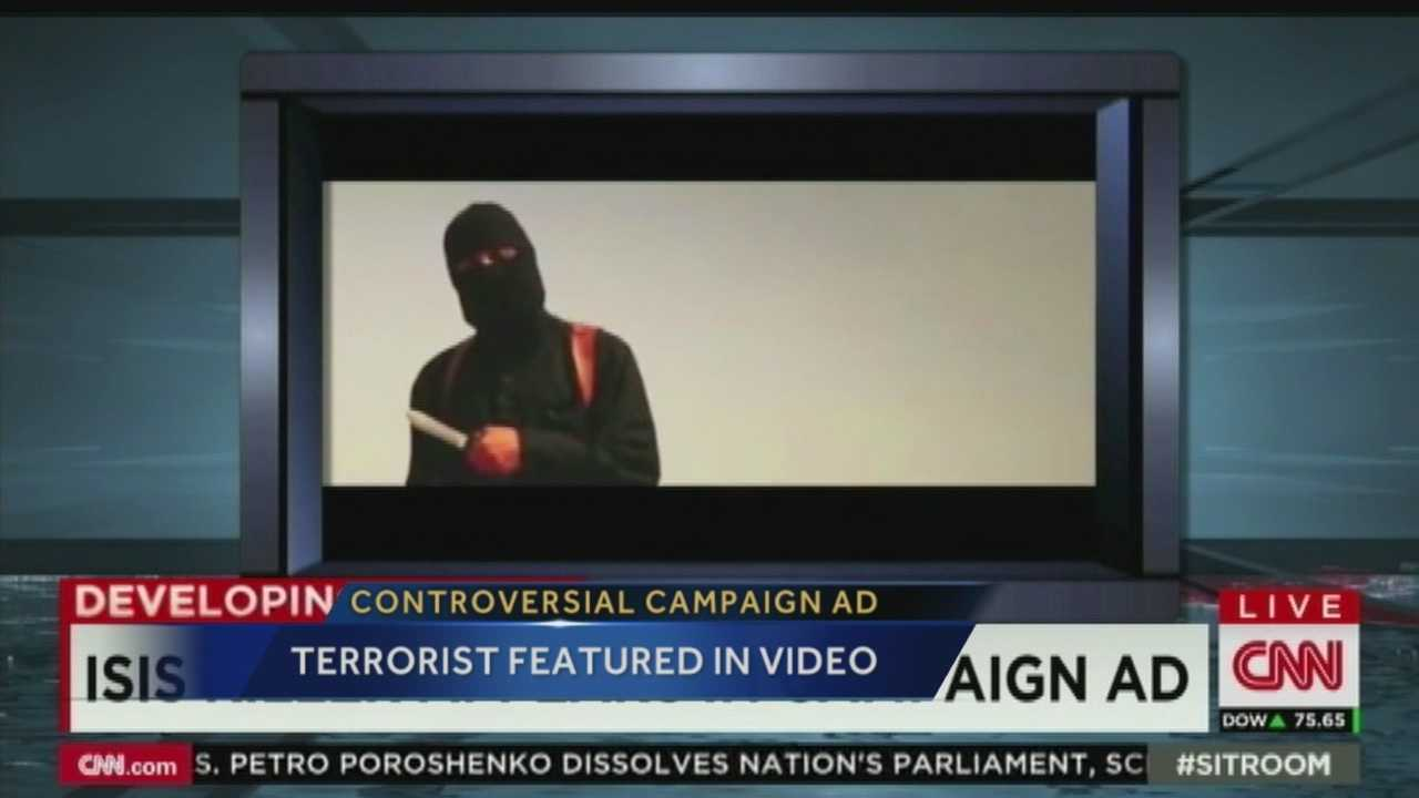 A New Mexico candidate is using a shocking image in his new ad campaign.  It features the terrorist who beheaded an American journalist.