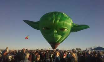 5. We got another chance to see Yoda (thanks to a uLocal mobile user), a special shape that made its debut Saturday.
