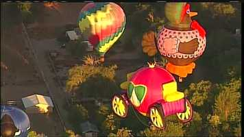 See photos from Monday's flying competitions at Balloon Fiesta.