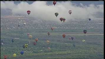 Balloons took the sky Friday morning for the fifth straight day of Balloon Fiesta.