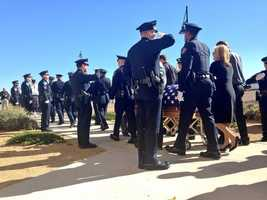 See photos from Officer Anthony Haase's memorial service.