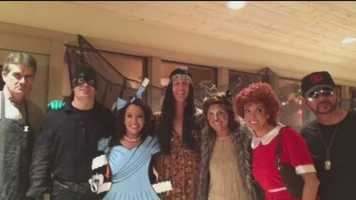 The Action 7 News anchors got all dressed up for a Halloween party at Marisa Maez's house.