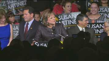 Gov. Susana Martinez wins re-election, vows to commit to position for four years (despite rumors of a Vice Presidential bid in 2016).