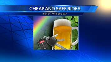 Check out free and discounted safe rides that are being offered on St. Patrick's Day.