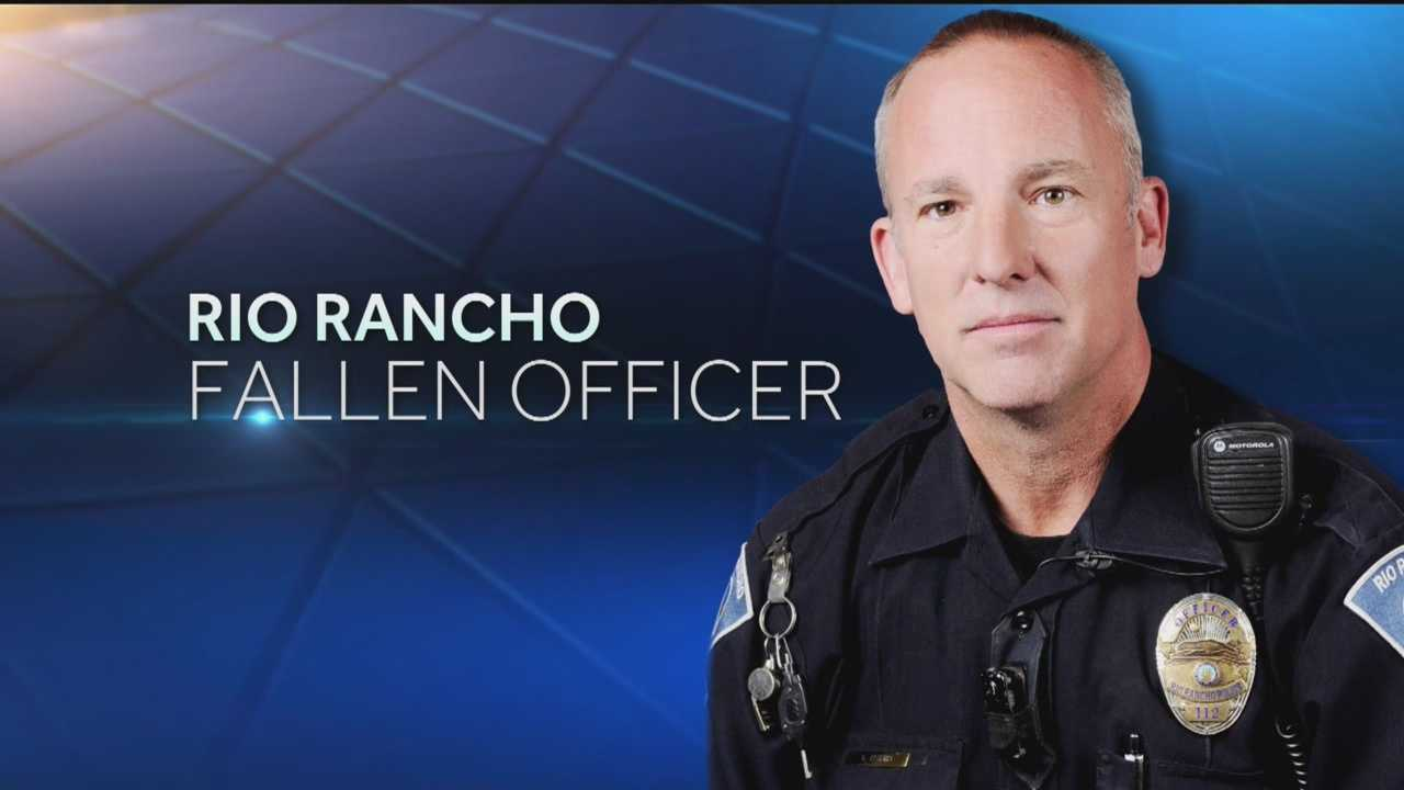 Rio Rancho police say 49-year-old Officer Gregg Benner was shot and killed during a traffic stop Monday night.
