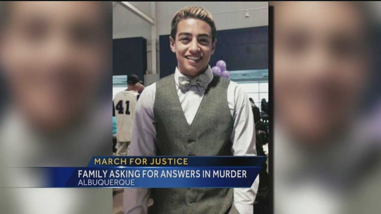 Family, friends march for Jaydon Silver-Chavez