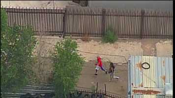 See Sky 7 photos from Wednesday's police chase.