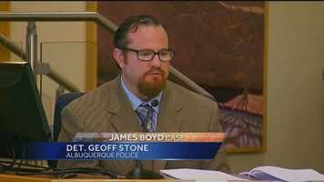 """APD detective Geoff Stone was on the stand for most of the day on Tuesday. Stone discussed the """"chain of custody"""" when it came to the evidence."""