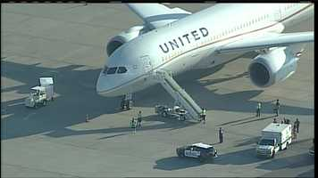 See photos of Tuesday's emergency scene at the Albuquerque International Sunport.