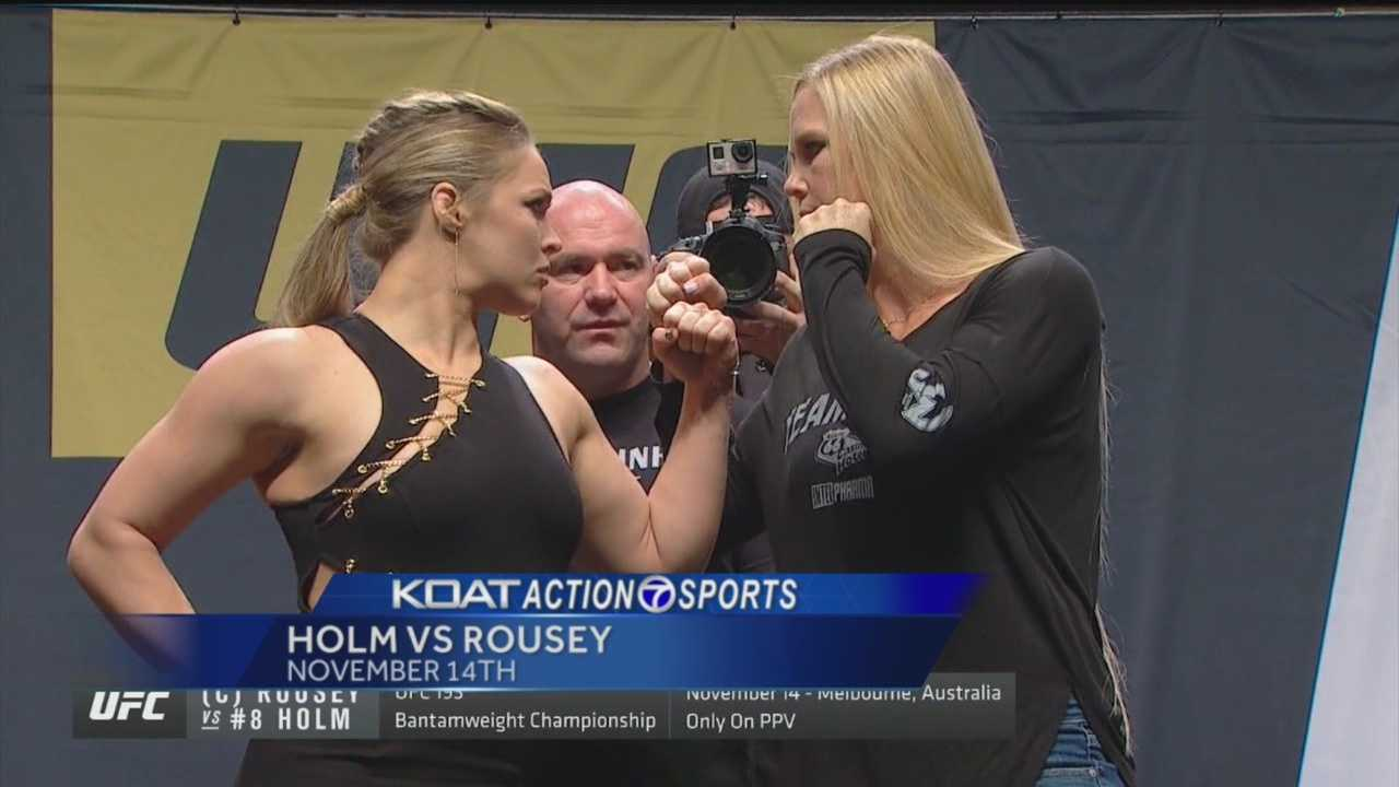 Holm, Rousey smack talk drought comes to an end