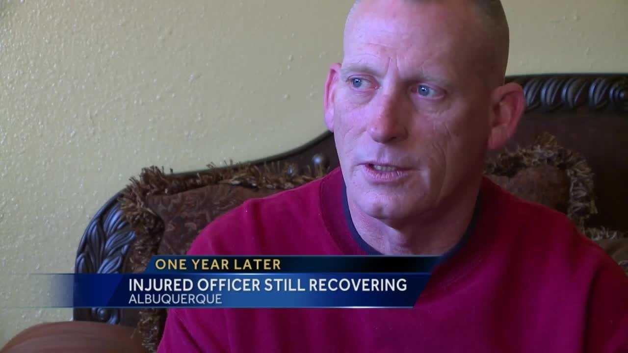 Injured officer still recovering