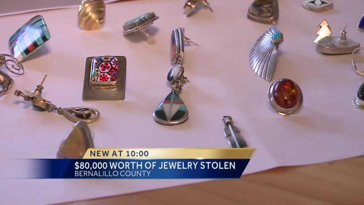 An Albuquerque woman gets 80 thousand dollars worth of jewelry stolen from her home.