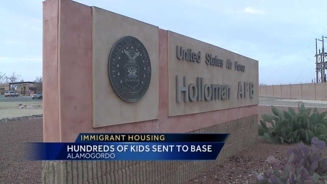 Hundreds of immigrant children arrived at Holloman Air Force Base in Alamogordo.