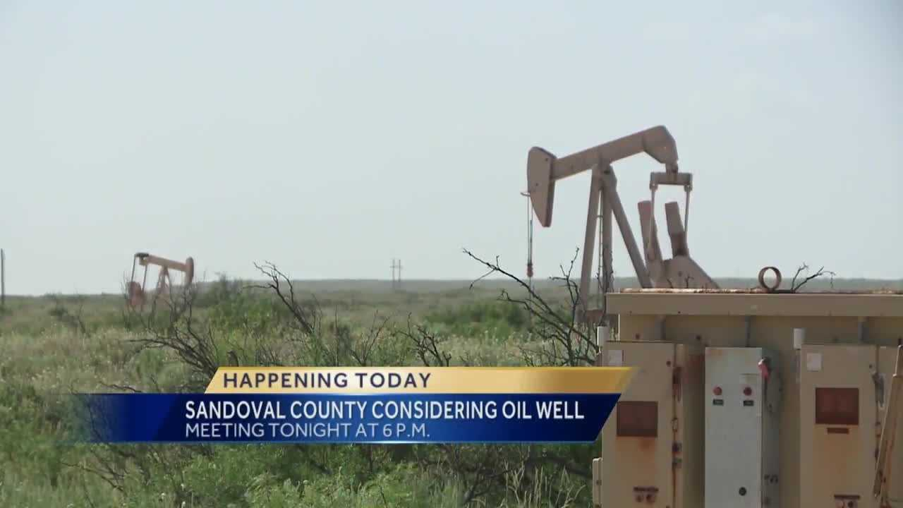 A decision could be made tonight on whether an energy company can drill, to see if there's oil near rio rancho.