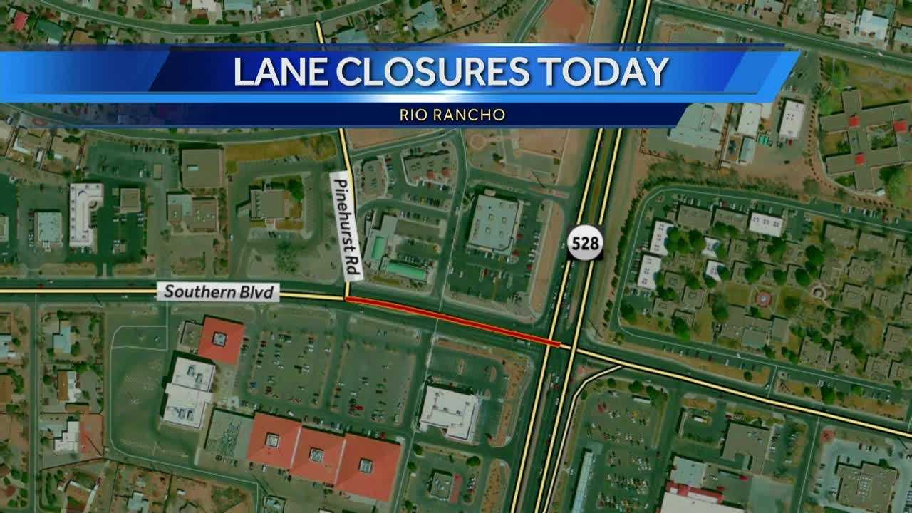 Several lane closures on Southern