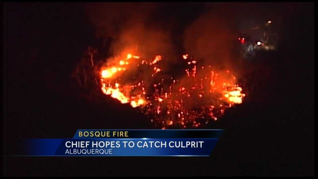 The fire burned four acres on Saturday night.
