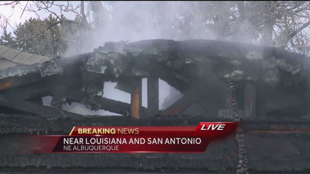 Firefighters are battling a fire on Winas Drive near Louisiana and San Antonio.