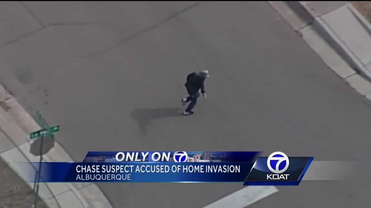 Chase suspect accused of home invasion