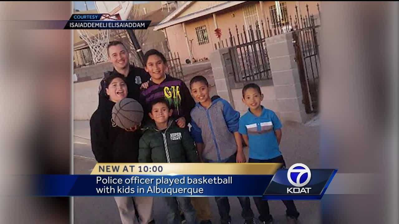 Local kids won't soon forget this pickup game