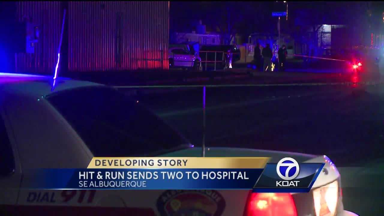 We're following a developing story in southeast albuquerque. Two people are in the hospital after they were hit by a car.
