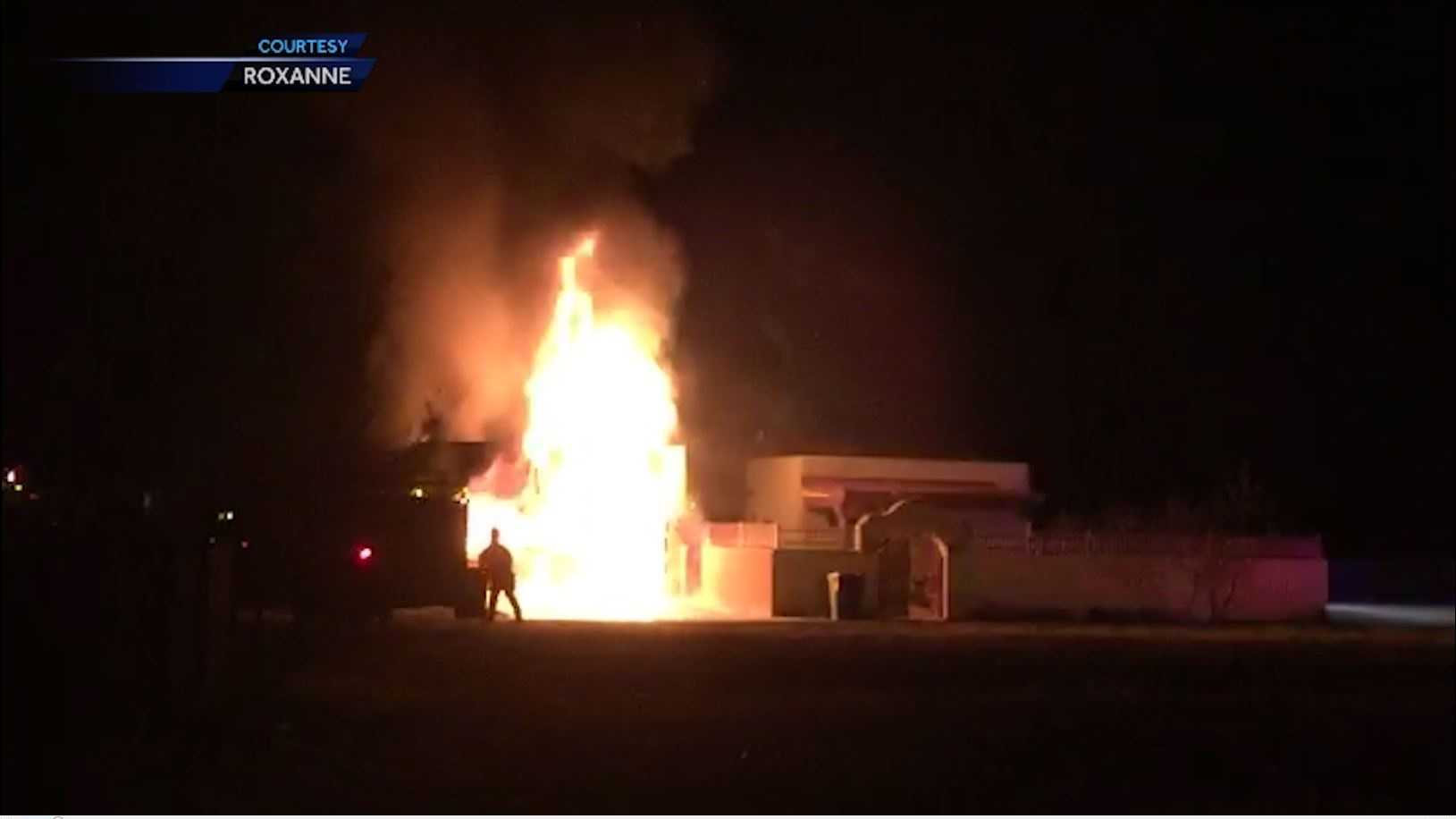 Garage Catches Fire Overnight