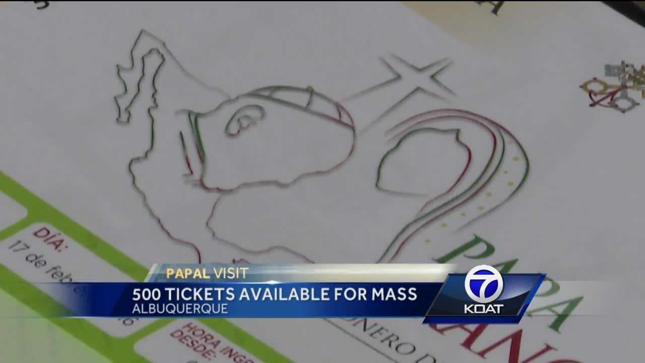 Papal visit: 500 tickets available for mass