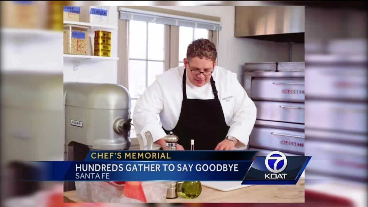 Chef's memorial: Hundreds gather to say goodbye
