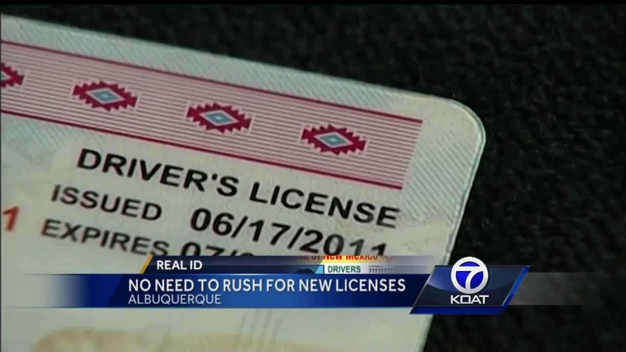 REAL ID: No need to rush for new licenses