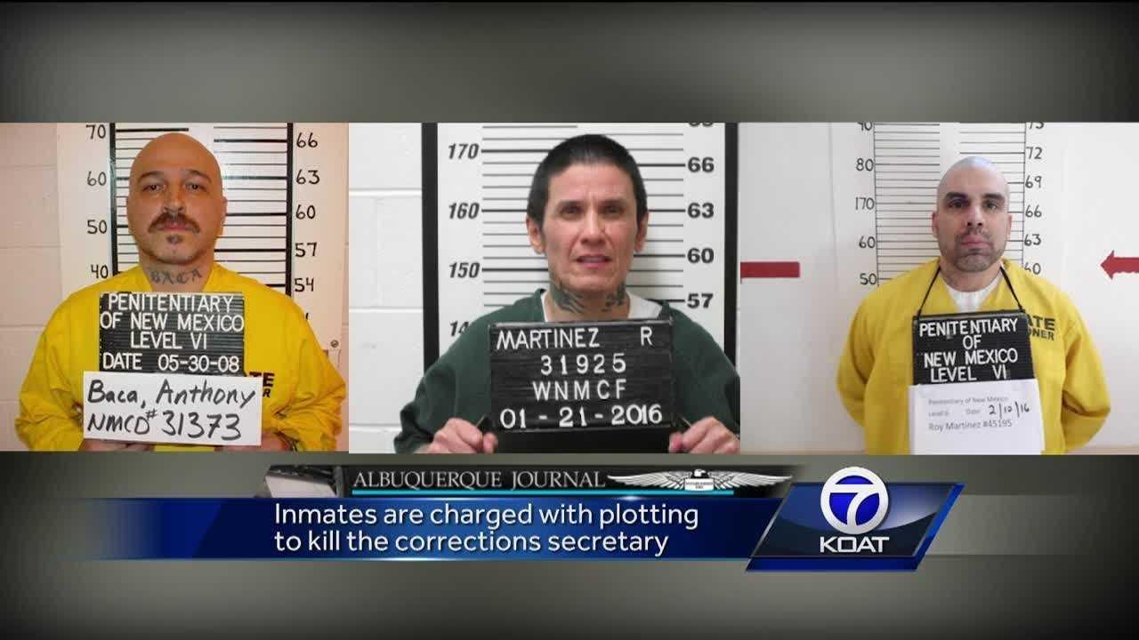 Inmates Charged with Plotting to Kill The Corrections Secretary