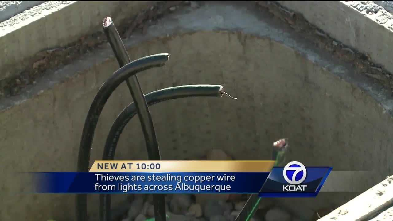 Copper wires replaced to deter crooks