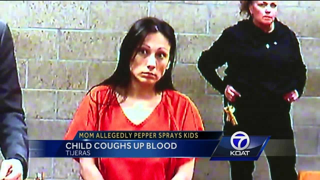 A woman charged with child abuse faced a judge Wednesday, following allegations she pepper-sprayed one of her children in the face.