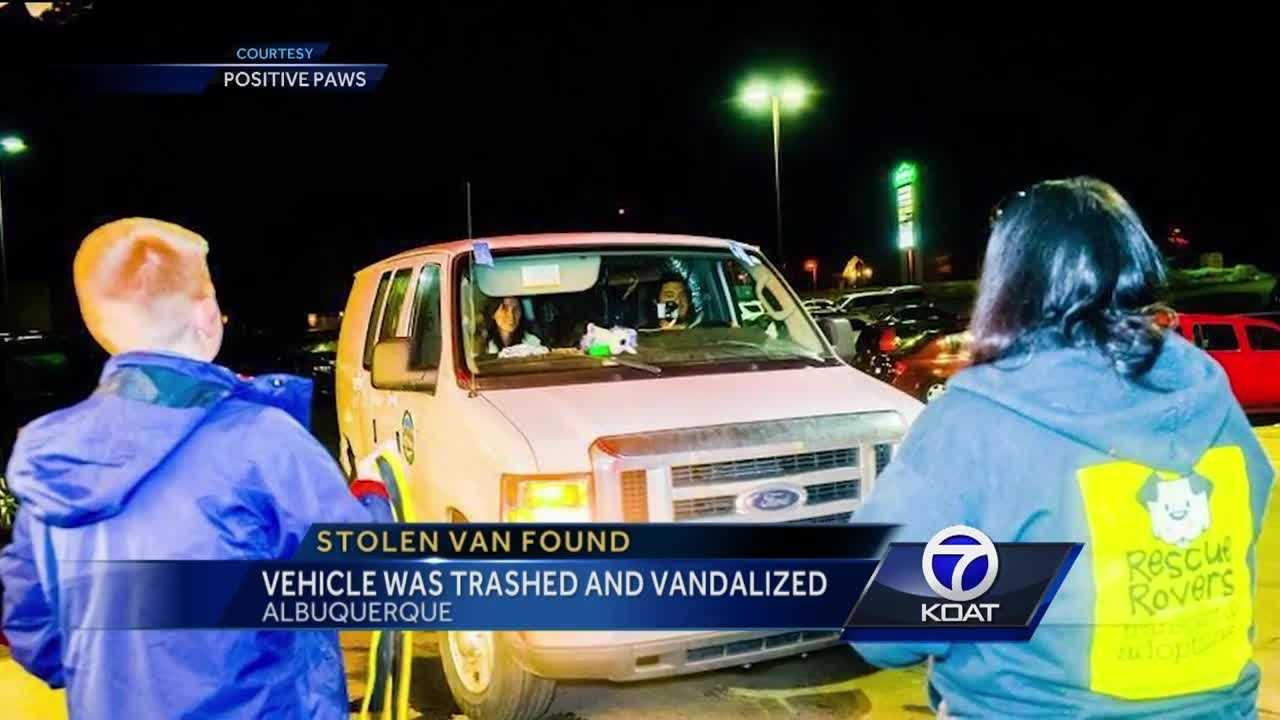Animal rescue van found vandalized