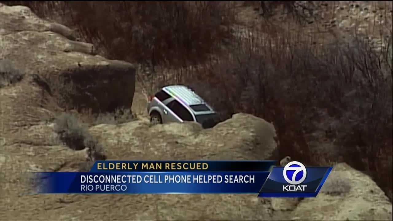 Older man rescued