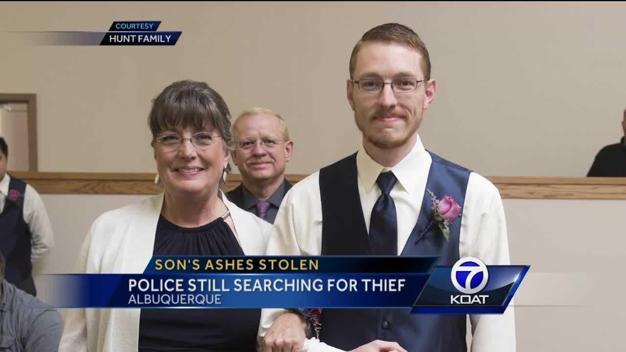 Son's ashes stolen