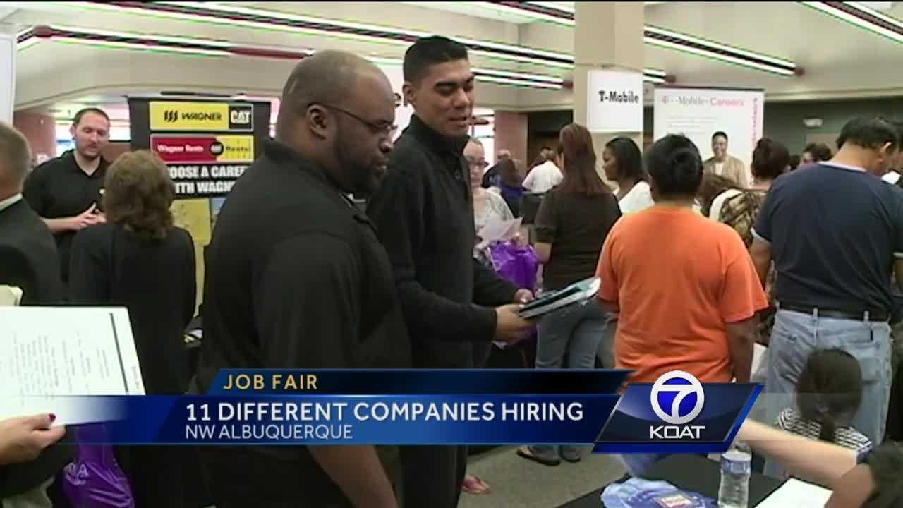 Workforce connection hosts one of these job fairs almost every week now.
