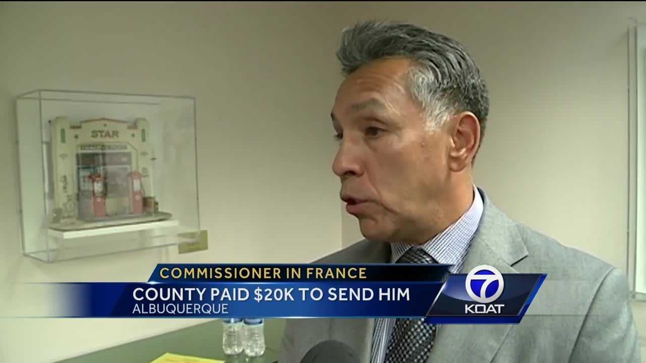 Commissioner in France: County paid $20K to send him