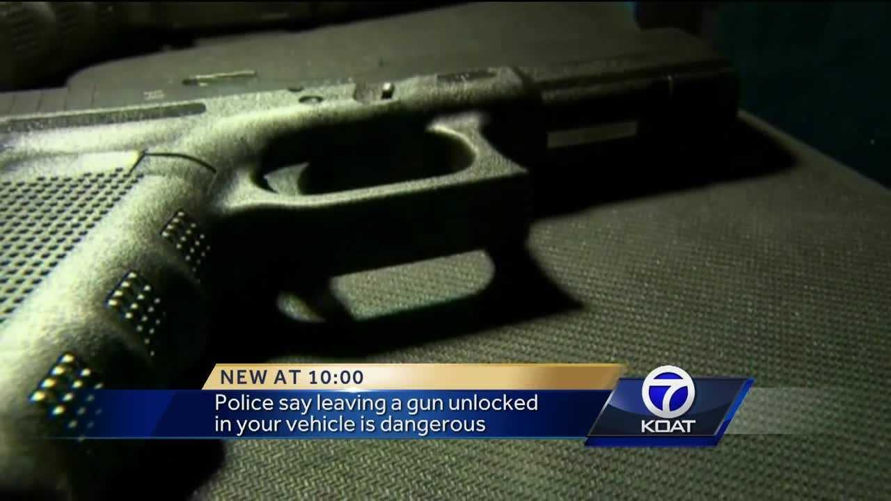More than 400 guns were stolen from cars in Albuquerque last year.