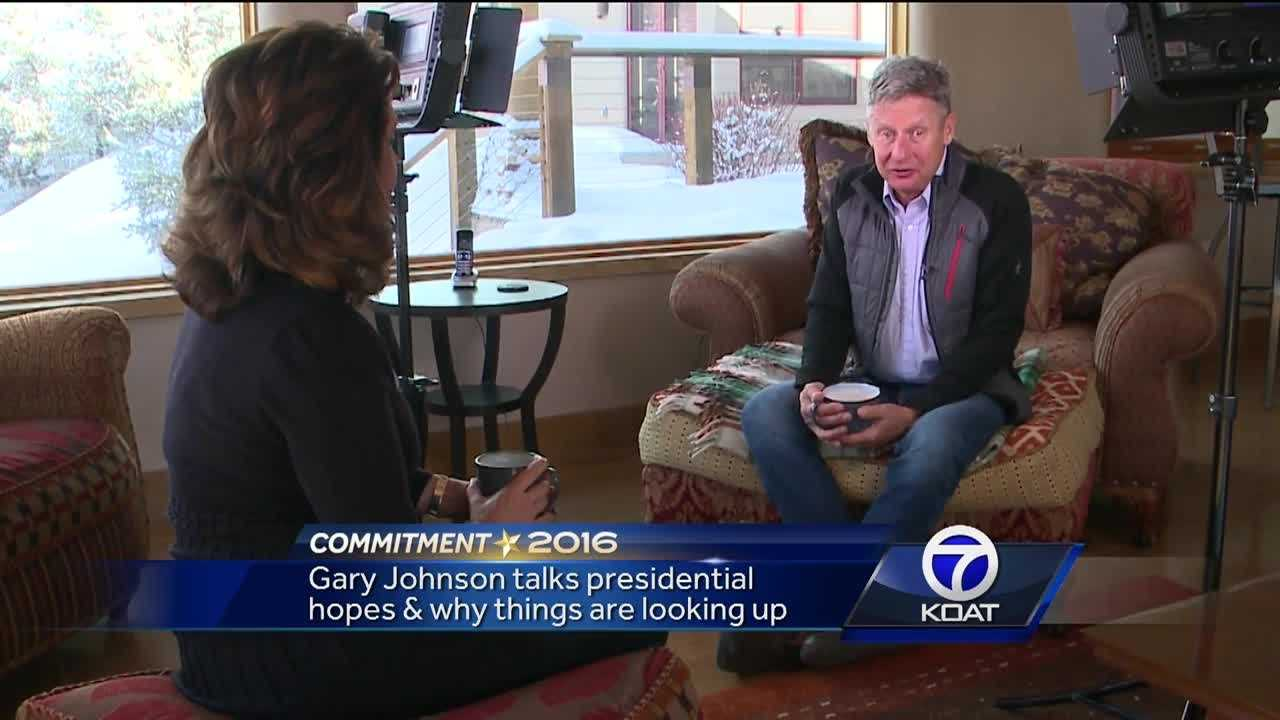Gary Johnson discusses presidential hopes