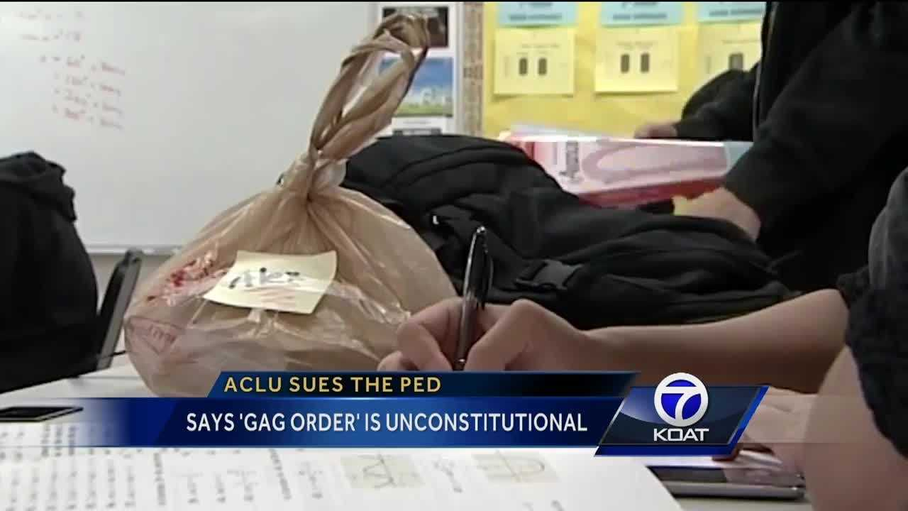 "Teachers say ""gag order"" is unconstitutional."
