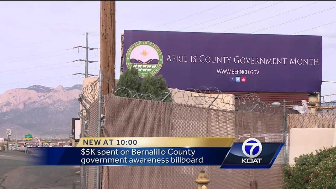 A billboard put up by Bernalillo County is not winning over a lot of people in the community.